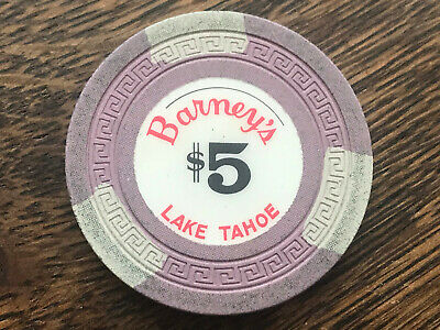 1960s $5 Barney's Lake Tahoe Casino Chip Second Issue R-9 Rarity