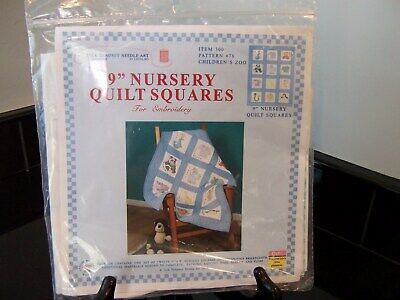Nursery Quilt Squares, to embroider, NIP
