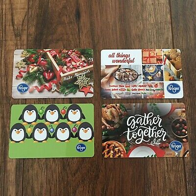(4) Kroger Holiday 2019 Gift Cards Collectible No Value