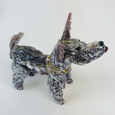 Art Glass Scottie Scottish Terrier Scotty Dog Solid - Multicolored