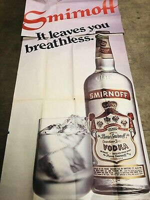"1977 SMIRNOFF VODKA AUSTRALIA A3 POSTER AD ADVERT ADVERTISEMENT /""HAYRIDE/"""