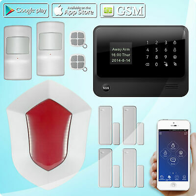 G90B Wifi Wireless Home Security Alert GSM System Passive Infrared Outdoor Siren