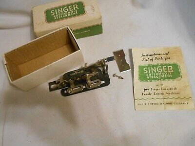 1941 SINGER Sewing Machine buttonhole Attachment  with instructions and box