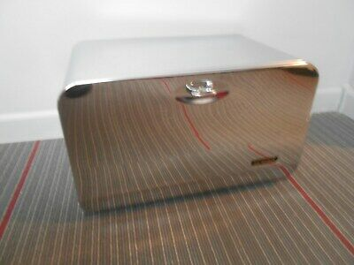 vintage Beauty-Box bread box metal / chrome with shelf NICE RETRO