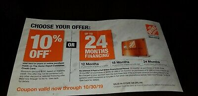 Home Depot 10% off Coupon- Expires Oct. 30- 24 Hour Auction