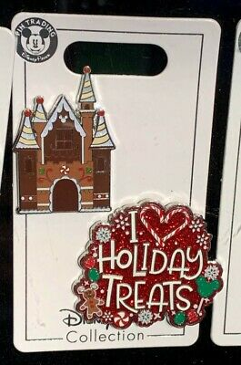 Gingerbread House and I Love Holiday Treats 2019 Christmas Disney Pins PRESALE