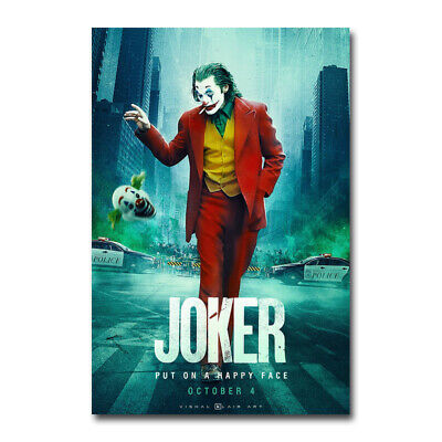 The Joker 2019 Hot Movie 4 Wall Art Silk Canvas Poster Print 12x18 24x36 inch