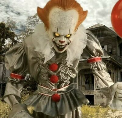 Nib 6Ft Animated Lifesize Pennywise The Clown From It Halloween Prop Morbid