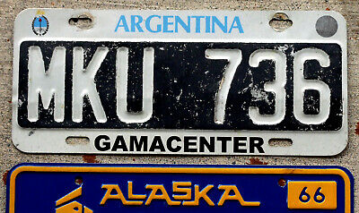 1995 Argentina License Plate [Gama Center Dealership - Buenos Aires]