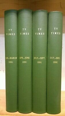 TV Times Magazine: Full Year for 1991 in 4 Bound Volumes