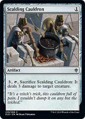 4x CALDERONE INCANDESCENTE - SCALDING CAULDRON Magic ELD Mint