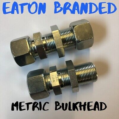 Hydraulic Metric Bulkhead Fittings Eaton GSV Part Code 400-500Bar