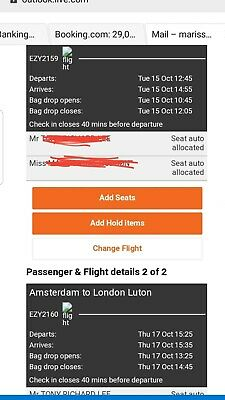 easy jet flights luton to Amsterdam 15th to 17th