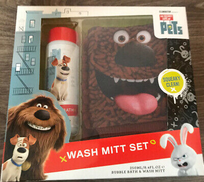 The Secret Life Of Pets Wash Mitt Set & Bubble Bath Christmas Gift Present