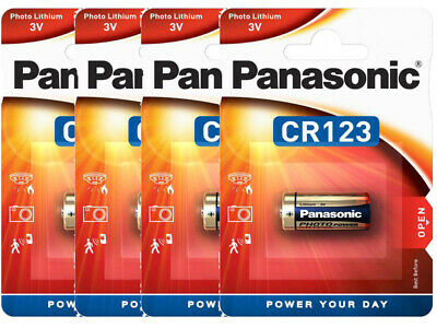 50 x Panasonic CR123 CR123A CR17345 Lithium Photo 3 Volt Blister Neu /& OVP