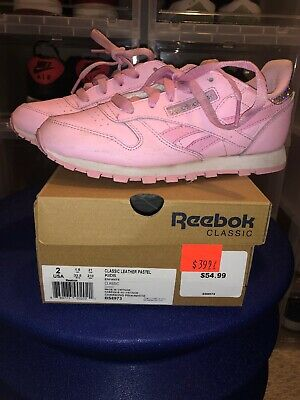 GIRLS REEBOK CLASSIC LEATHER METALLIC in color Pink GOLD MET SIZE 2Y Dance | eBay