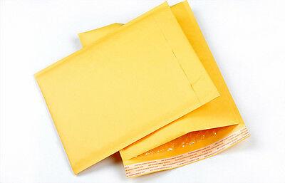 10X 90*150+40mm Kraft paper Bubble Bag Padded Envelopes Mailers Yellow Bag:: MC