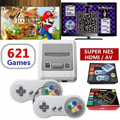 HDMI Mini Retro TV Game Console NTSC PAL Classic 621 Built-in Games 2 Controller