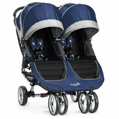 BabyJogger City Mini Double Stroller - Cobalt/ Gray - NEW