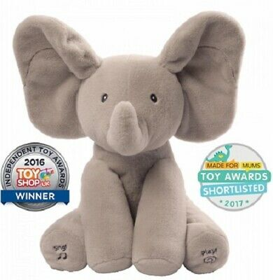 Gund Flappy The Elephant Animated Peek A Boo Musical Plush Toy Baby Gift Present