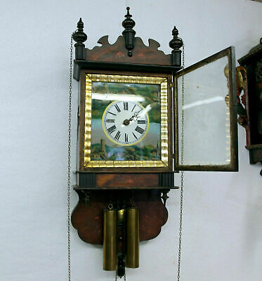 Antique Wall Clock Black Forest Regulator Schwarzwald wood mouvement