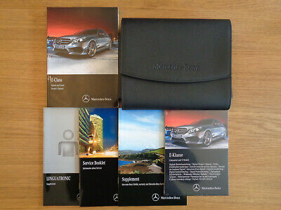 Mercedes Benz E Class Owners Handbook Manual and Pack 13-16