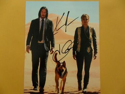 "Keanu Reeves, Halle Berry 8x10 Autographed ""Wick"" Photo"