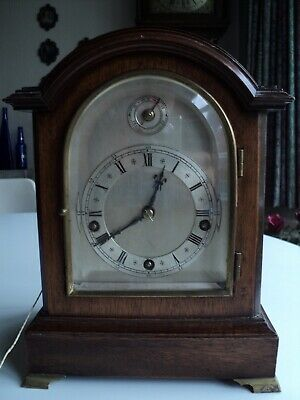 Bracket clock W and H movement westminster chimes repeat pull cord