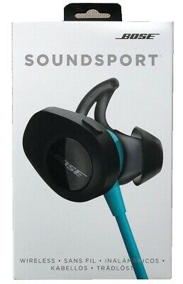 Bose SoundSport Wireless Bluetooth In-Ear Headphones Aqua in Box - Ships FREE