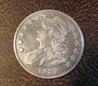 """1831 Capped Bust Half Dollar """"Cleaned""""  (XF+)"""
