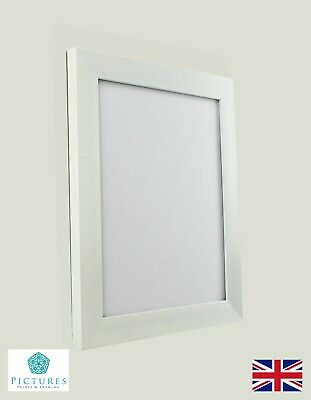 "White Photo Picture Frame 28mm 17""x17 17x18 17x19 17x20 17x21-36"" Mount Perspex"