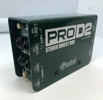 Radial Engineering PROD2 2 Channel Passive Instrument Stereo Direct Box Green