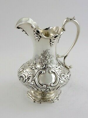 Superb quality Victorian SILVER Milk or CREAM JUG London 1858 William Smily 289g
