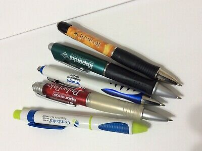 Lot of5 Assorted  Collectible Drug Rep Pharmaceutical  Rare Pens