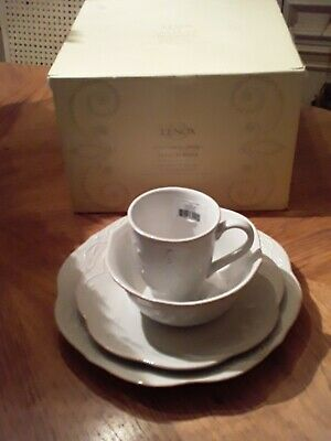 Lenox French Perle white 4-Piece place setting. Brand new SKU 822942 boxed