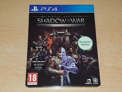 Middle Earth Shadow of War Steelbook Silver Edition PS4 Playstation 4
