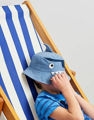 Joules Boys Hatattack Character Hat in NAVY PIRATE SHARK Size 3yrin7yr