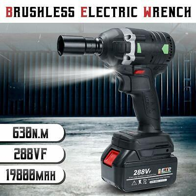 630N.M Electric Cordless Brushless Impact Wrench 3000rpm 288VF Ratchet Driver