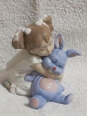 NAO by LlADRO, GIRL and ADORABLE RABBIT,Mint. Absolutely Stunning, Very Rare