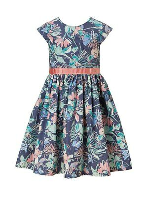 John Lewis Girls' Blossom Print Dress Teal 11 years BNWT free P&P UK