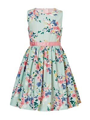 John Lewis Girls' Blossom Print Dress Teal 12 YEARS FREE P&P UK BEST PRICE
