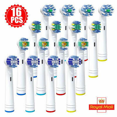 16 PCS Electric Toothbrush Heads Compatible With Oral B Braun Toothbrush Head UK