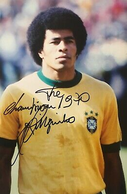 Jarzinho signed 12x8 Brazil photo UACC AFTAL RACC registered dealer