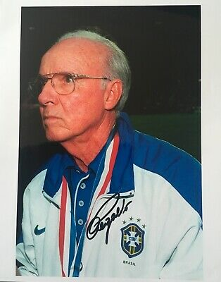 Mario Zagallo signed 10x8 Brazil photo UACC AFTAL RACC registered dealer