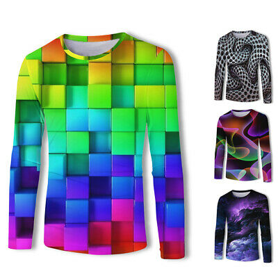 Mens Tops Male Shirts Autumn Fashion Plus Size Tops Shirts 3D Print Casual