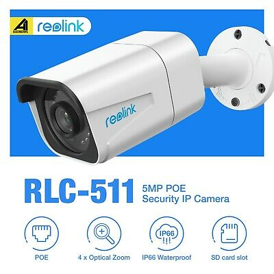 Reolink Bullet Security IP Camera PoE RLC511 Outdoor 5MP 4X Optical Zoom SuperHD