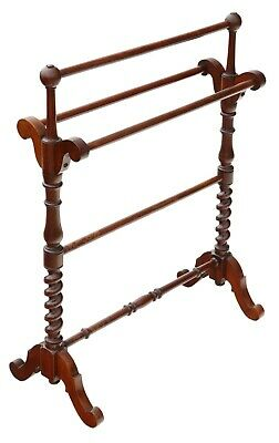 Antique fine quality Victorian C1880 mahogany towel rail stand