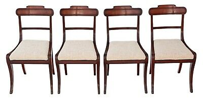 Antique fine quality set of 4 Regency mahogany dining chairs C1825
