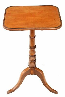 Antique quality Georgian mahogany tilt top wine or side table C1800