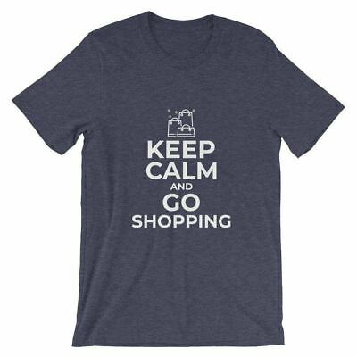 Keep Calm And Go Shopping Funny Shopaholics T-Shirt For Shopper Gifts Shopping L